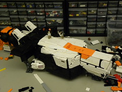 WIP 5: District 9 Dropship! (Josiah N.) Tags: lego district 9 wip moc youallrock notashipthatsokay