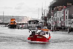 15/365 The Karen Lynn - 365 Project 2 - 2016 (Helen) (dorsetpeach) Tags: red england orange boat harbour lifeboat dorset 365 fishingboat weymouth rnli 2016 365project aphotoadayforayear karenlynn second365project