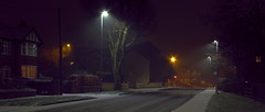 Snow on road (Rupert Thomson) Tags: road street snow lamp night long exposure led sodium