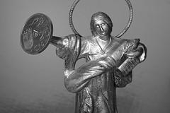 Saint Pancras and coin (Francesc Carreras) Tags: coin pancras moneda saintpancras 25cntimos santpancrs sanpacracio 25cntims