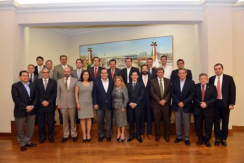 El gobernador Javier Duarte asistió a reunión con Cámaras Empresariales del Puerto de Veracruz