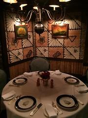 Trader Vic's, Tokyo (jericl cat) Tags: japan logo table japanese restaurant tokyo 1974 room dining dishes setting tiki tradervics tableware polynesian