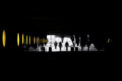 Follow the line (boxxbeidl.de) Tags: people white abstract black yellow reflections tunnel minimalistic abstrakt reflektionen spiegelungen minimalistisch