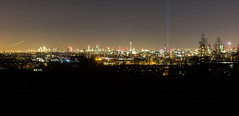 London Skyline - Parliament Hill (MoreToJack) Tags: lights night docklands landscape london parliamenthill postofficetower bttower theshard cityscape nighttime skyline canarywharf dark