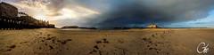 Chandeleur  Saint-Malo (guillaume_roger_aussant) Tags: ocean sunset sea mer france jaune landscape see soleil nikon grain coucher sable pluie wave bretagne bleu terre mm cote paysage vagues saintmalo 1224 ocan littoral littorale ileetvilaine d7100 chandeur