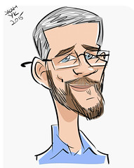 Conference caricature (SteveMather) Tags: illustration dad artist father cartoon son caricature likefatherlikeson caricture salahyk cartoonguru