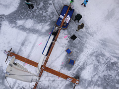 Mary B (KAP'n Craig) Tags: ice madison maryb lakemendota iceboat frozenassets fromakite