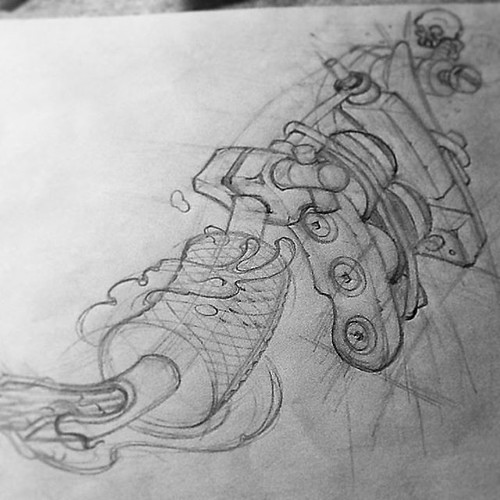 #sketch #tattoomachine #custom #ink #Inked #miami #Miamibeach #305 #7magnum