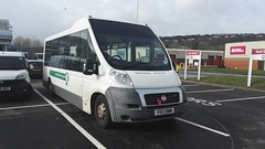 In for a service (Woolfie Hills) Tags: county bus swansea fiat wheelchair days council bluebird bwn ducato pembrookeshire yx13