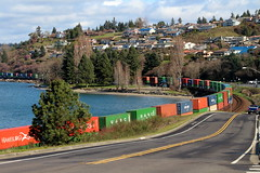 Training in Steilacoom (Mk) Tags: train narrows choochoo steilacoom mommashouse southsound overtheriver andthroughthewoods oceanshorestoportorchard