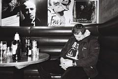 The Godfather (akio.takemoto) Tags: sleeping blackandwhite film beer blackwhite pub edinburgh streetphotography delta booze leith asleep brassmonkey edimburgo ilford pointshoot biancoenero leithwalk 3200iso pellicola drunkpeople ricohgr1 analogicphotography fotografiaanalogica