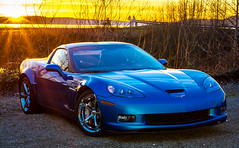 2010 Corvette Grand Sport (Brianfeutz) Tags: blue sunset hardtop voigtlander jetstream corvette 58mm gs coupe c6 sunstar ls3 6speed noct grandsport drysump d7100