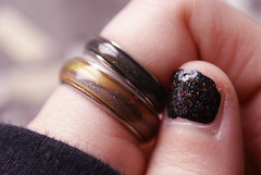 Galaxy (obsequies) Tags: life black macro glitter hands mood moody random bokeh pastel space grunge goth ring rings nails galaxy thinking worlds galaxies nailpolish artsyfartsy moodring pastelgirl softgrunge pastelgrunge pastelgoth