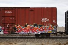 Each (quiet-silence) Tags: railroad art train graffiti railcar boxcar graff freight each tr fr8 tr19384