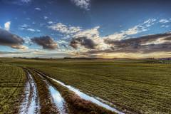 """""""going home"""" (B.Graulus) Tags: road sky nature field clouds canon landscape photography belgium belgique outdoor belgi belgica landschap flanders vlaanderen vlaamsbrabant kortenberg 600d"""