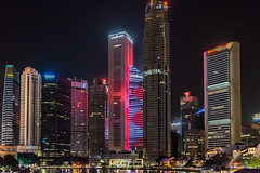Financial District -the World of Money (*Capture the Moment*) Tags: skyscraper reflections singapore nightshot reflexion singapur boatquay hochhaus 2015 nachtaufnahmen sg50