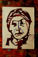 sx thousand million portrait project - limited edition (Etching Stone) Tags: portrait people water sign stone ink writing project paper flow 1 photo drawing render text rip alien border pic icon snap crack puzzle flux painter essential million ready express freedomofspeech tear awareness population vote six inky limitededition exclusive thousand collective select waterproof sic sx tore impress handmadepaper billion schmincke milliarden rarefied btten pigmented  aerographe freedomofart sentientbeing artistsproof  aerocolor sxthousandmillionportrait