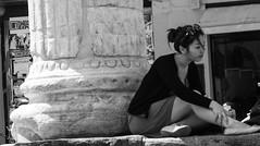 l'assenza #8 (pino piedimonte) Tags: life portrait bw italy woman girl hair monocromo blackwhite donna hands italia alone milano ritratto biancoenero ragazza monocrome omaggio incomunicabilità canon450d neroametà licwip pinopiedimonte
