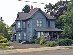 Victorian home   Silverton, Oregon (eg2006) Tags: blue house architecture oregon exterior silverton oldhouse victorianhouse silvertonoregon