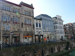 Oude Gracht,  Utrecht, the Netherlands (TeenyWeenyDesign/Adrianne) Tags: utrecht domtoren cathedral oldbuildings domtower