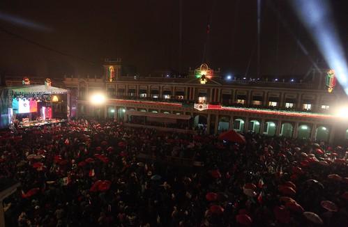 El gobernador Javier Duarte de Ochoa encabezó la Ceremonia por el 203 Aniversario del Grito de Independencia de México