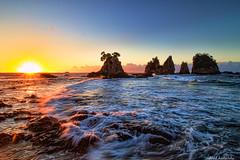 Izu Minokakeiwa Rock (koshichiba) Tags: sea seascape nature rock japan landscape tide wave shore   izu    minokakeiwa