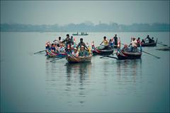 Taung Tha Man Lake (*Kicki*) Tags: taungthamanlake taungthaman ubein lake myanmar boats tourists burma mandalay water evening reflection amarapura rowing oar boat dusk asia people မြန်မာ