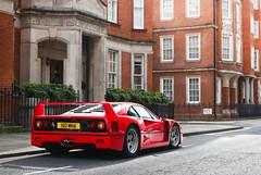 Mount street baller (Aimery Dutheil photography) Tags: red london classic speed canon amazing italian classiccar wing fast exotic turbo carbon legend supercar v8 f40 mountstreet londoncars ferrarif40 70d ferrrari londonsupercars