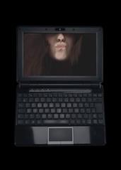 flatscreen (Anna Rchie) Tags: black face computer dark laptop scan flatscreen netbook