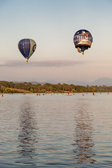 Air Force Balloons (Daniel Hall - AUS) Tags: lake hot water balloons dawn day air australia canberra aus griffin act burley