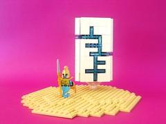 Mystic prism obelisk (FrostNovejkee) Tags: desert lego obelisk jinn prims