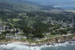 Aerial view of Montara and Moss Beach, San Mateo County, California (cocoi_m) Tags: california aerial highway1 pacificocean montara halfmoonbay miramar mossbeach aerialphotograph princetonbythesea sanmateocounty elgranada halfmoonbayairport