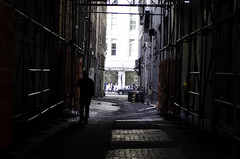 The Shadow In The Alley (jeffreymbhibbard) Tags: life seattle city art architecture buildings photography daylight interesting alley nikon cityscape photographer patterns professional jeffrey inside excitement mb exciting hibbard d7000 nkond7000