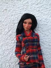 Aurelia in tartan suite (Belenojon) Tags: doll ooak emilia bjd 16 freckles resin charo aurelia couture tartan inamorata