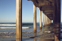 IMG_1051 (ais3n) Tags: ocean california light sea beach canon lens photography eos prime pier wooden san pacific sigma diego sunny shore 7d blacks fixed dslr sunrays pillars length planks available focal 30mm ais3n