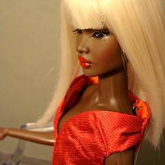 Nadja (Deejay Bafaroy) Tags: red portrait black rot fashion closeup toys doll dress barbie portrt blond wig convention blonde cinematic fr royalty nadja puppe integrity percke kleid outofsight nuface outofsightnadjar outofsightnadja