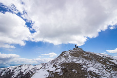 dots on top (Fabio Ghelfi) Tags: friends wild sky snow nature canon rocks wind sigma adventure toscana topoftheworld appennino abetone 100d