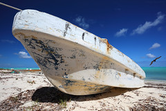 Old Boat on Bambarra Beach, Middle Caicos, Turks and Caicos (Bryan Carnathan) Tags: ocean travel seascape beach canon landscape eos boat sand colorful day bright outdoor wideangle atlantic 16mm skiff atlanticocean gitzo turksandcaicos oldboat westindies britishwestindies middlecaicos landscapephotography outdoorphotography beachedboat northcaicos induro seascapephotography canonef1635mmf4lisusmlens canoneos5dsr bryancarnathan beachedskiff bamberrabeach