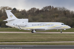 M-TINK - 2015 build Dassault Falcon 7X, shortly after arrival on Runway 05R at Manchester (egcc) Tags: man manchester falcon stark lightroom dassault ringway bizjet egcc 266 falcon7x mtink