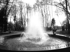 P4290387 (Andrey Narchuk) Tags: park portrait blackandwhite black spring moscow