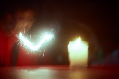 Sparks (chenb.reyes) Tags: new film lomo lomography candle fireworks year sparks