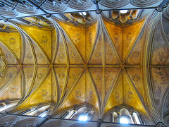 Worcester Cathedral (pefkosmad) Tags: roof church worship cathedral interior indoor symmetry ceiling holy angels orchestra vault worcestershire instruments anglican worcester placeofworship hallowedground churchofengland worcestercathedral