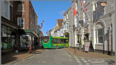Cowes High street Isle of Wight England (Shaw-King.) Tags: street red england bus its ferry way high royal southern vectis passenger southampton isle cowes along funnel wight