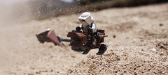 Speeder: Sand (Kyle Hardisty) Tags: trooper macro field canon mos kyle outside outdoors photography star sand flickr lego fig scout creation wars minifig depth eisley tatooine minifigure moc 2016 microscale hardisty