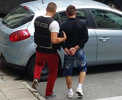 Being arrested (cuffed_inmate) Tags: hot male arrested prisoner inmate intake cuffed