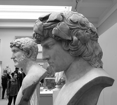 Antinous and his lover Hadrian, British Museum, London (orangeaurochs) Tags: sculpture rome london britishmuseum museums hadrian antinous