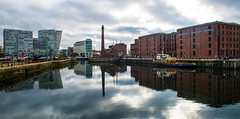 Liverpool Docks-2 (Matthew Proffitt) Tags: city uk reflection liverpool docks nikon 24mm nikkor dslr liverbuilding nikond600