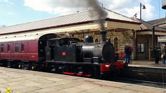 32 at Ramsbottom after operating a short working from Bury on 3 MK1S (david_umpleby) Tags: station gothenburg shuttle 32 msc ramsbottom manchestershipcanal eastlancsrailway april2016 smallenginesgala