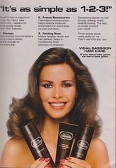 Vidal Sassoon 1981 (moogirl2) Tags: vintage retro shampoo 80s seventeen 80shair vidalsassoon vintageads vintagefashion