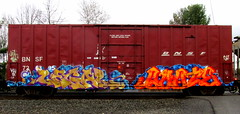 legal - quote GK (timetomakethepasta) Tags: train graffiti boxcar freight bnsf legal gk bth k4a